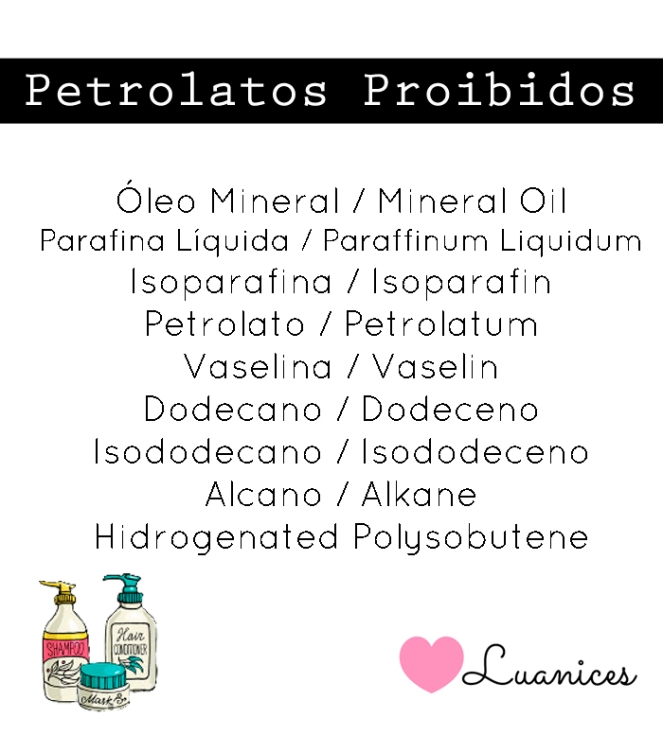 petrolatos proibidos