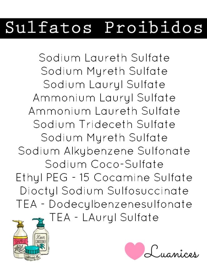 sulfatos proibidos